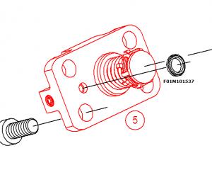 F01M101537 metalo - gumeno uplatnenie na pompena sekciq bosch